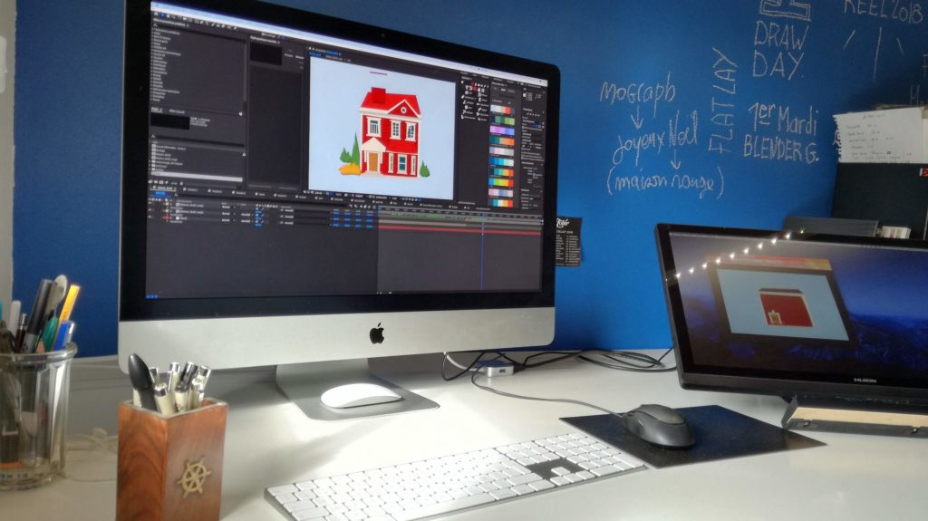 motion design imac bureau after effects